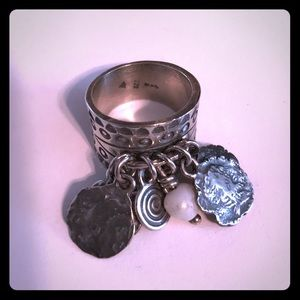 Silpada Sterling Silver Cha Cha Charm Ring